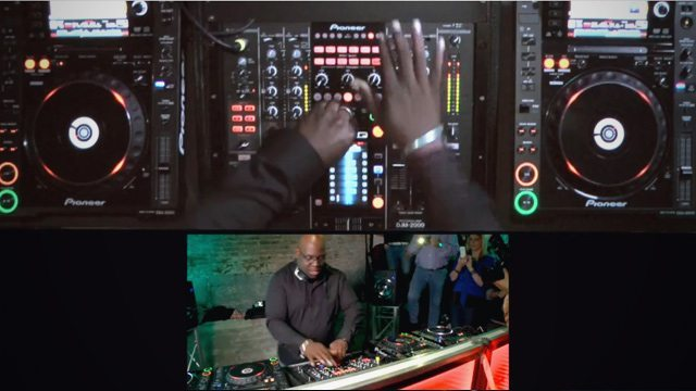 The Pioneer DJ Sounds video mix series does a great job of highlighting what the DJ is doing with their hands.