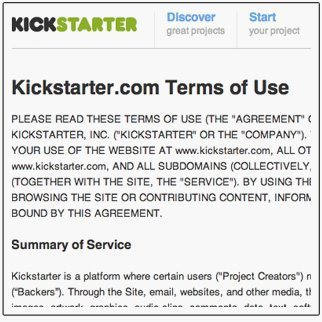 kickstarter-terms-of-use