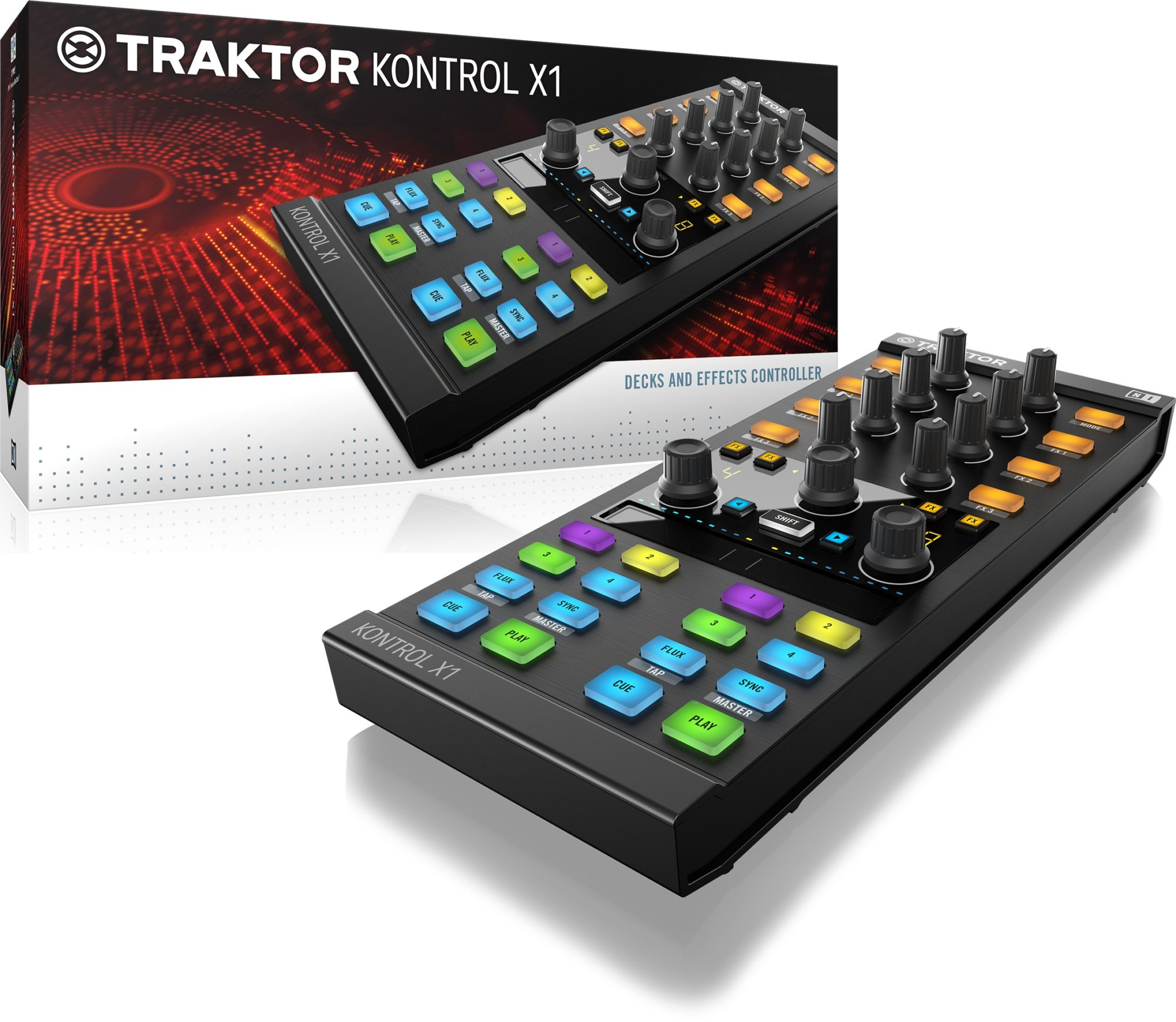 TRAKTOR_KONTROL_X1-MK2_packshot-and-hardware_reflection
