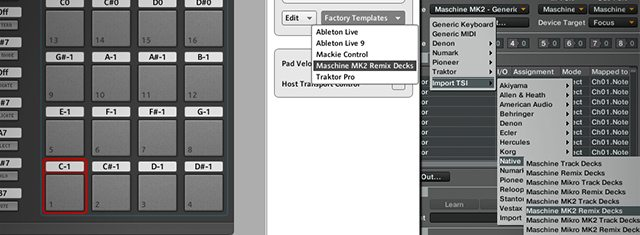 Controller Editor app (left) and Controller Manager in Traktor (right)