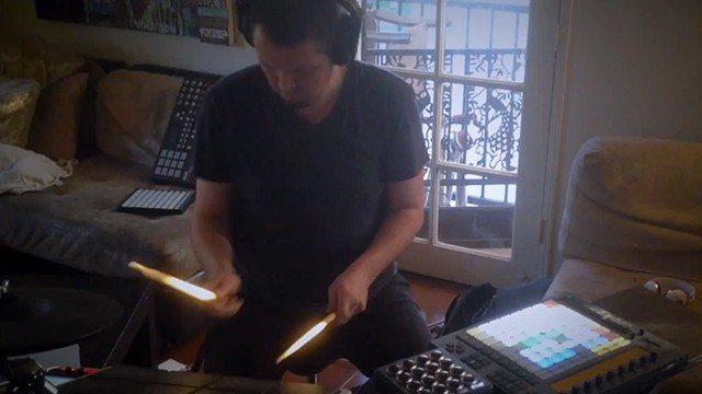 drumming-ableton-push