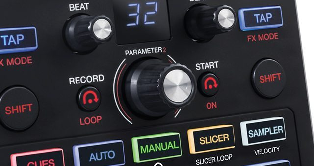 Flip Mode controls pictured on the Akai AFX controller