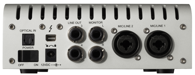 The Apollo Twin's Optical In allows 2 S/PDIF or 8 ADAT channels of digital audio input.
