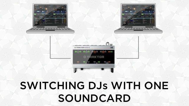 Switch DJs on 1 soundcard