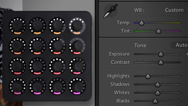 Knobroom Lightroom MIDI control Midi Fighter Twister