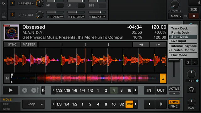 Stem Deck waveform traktor GPU