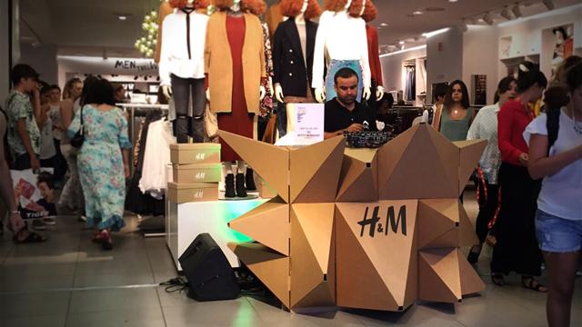 Cardboard DJ Booth