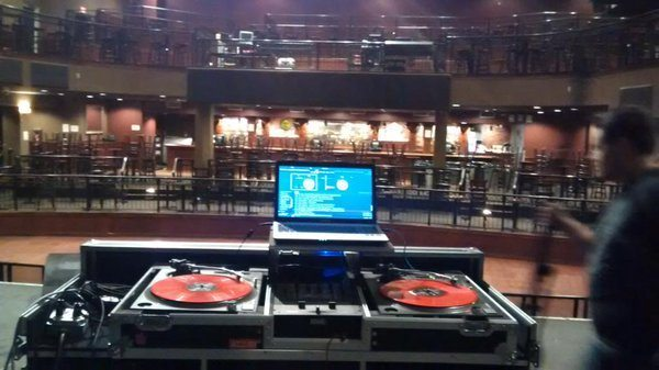 Image credit: @djthay420 on Twitter - dj soundcheck at a club -